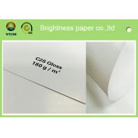 Large Art Card Paper Glossy Coated , Art Board Paper For High Speed Sheet Fed Press Manufactures