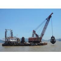 5 - 80 Ton Offshore Marine Cranes Special Grab Bucket Dredger 1.2r/Min For Ship Loading Manufactures