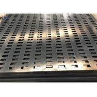 China 1.5mm Perforated Square Hole Galvanized Steel Sheet Metal Decorative Mesh on sale