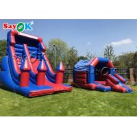China Custom Kids Inflatable Bounce House Blue And Purple Inflatable Jumping Bouncer on sale