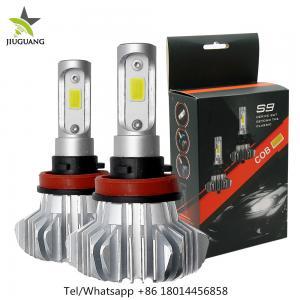 China 360° Beam Angle Led Headlight Bulbs , S9 9006 Fanless H7 Led Bulb on sale