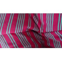 Soft Insulated 100% Polyester Vertical Striped Fabric For Shirting 280m Width Manufactures