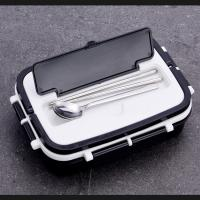 Leak Proof Thermal Stainless Steel Custom Logo Lunch Box Eco - Friendly Manufactures