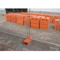 Buy cheap Temp Construction Fence Panels Q195 Iron Wire Materials With Orange Plastic Feet from wholesalers