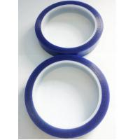 Economy grade PET Silicone Tape Single Adhesive Side , Blue Adhesive Tape For Spray Masking Manufactures