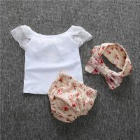 Angou hot sale baby floral sets ins new infant baby suits European&American cute