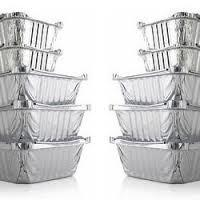 Buy cheap Packing Silver Aluminum Foil Containers , Disposable Takeaway Containers With Lids For Food from wholesalers