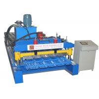 China Hydraulic Motor Glazed Tile Roll Forming Machine  3-4m / Min High Efficiency on sale