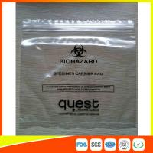Industrial Reclosable Plastic Specimen Bags , Packaging Zip Lock Bags FDA Approved Manufactures
