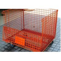 Heavy Duty Wire Mesh Pallet Containers 50*50mm Mesh Gauge 1500kg Loading Manufactures