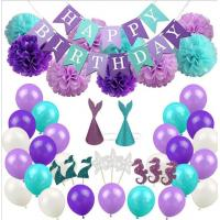Mermaid Party Supplies Party Decorations for Girls Birthday party Baby Shower Bridal shower Decorations Manufactures