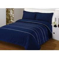 Buy cheap 4Pcs Blue Bedding Sets , 100% Cotton Diamond Embroidered Navy Simple Bedding Sets from wholesalers