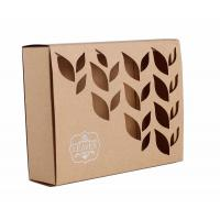 Carved Window Shell Wrapping Paper Box Slide Brown Kraft Paper Box For Cosmetics Manufactures
