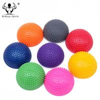 China PVC Inflatable Half Ball Foot Massager , Durable Half Balls For Feet 16*9 Cm on sale