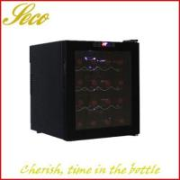 China 16 bottle semiconductor wine cooler refrigerator on sale