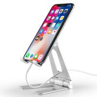 China COMER Mobile phone tablet support Smartphone holders Aluminum desk stand double adjustable on sale