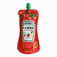 Standup Pouch with Spout, Suitable for Tomato Ketchup Packaging Manufactures