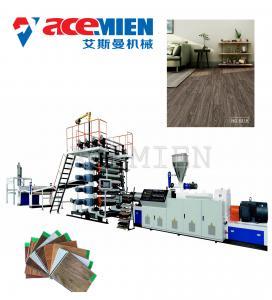 High Output Plastic Floor Tile Machine , Floor Tiles Making Machine Click Vinyl Manufactures