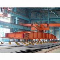 Low level slewing telescopic electric magnetic overhead crane with carrier beam to lift metal plates Manufactures