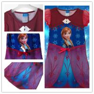 China Frozen Elsa & Anna Dress Princess Design wholesale Girl Dress supplier on sale