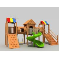 China Early Childhood Indoor Wooden Playground Set Combination Of  Varied Functional Areas on sale