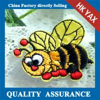 Hot selling Lovely Bee Embroidered Patch, Custom Embroidered Badge, Wholesale Embroidered Patch Manufactures
