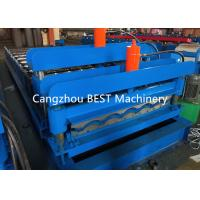 China Galvanized Glaze Steel Tile Roof Sheet Roll Forming Machine on sale