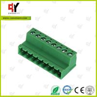 Buy cheap PA66 and Copper Connector Terminal Block HQ2TBKR 5.0 / 5.08 Spacing from wholesalers