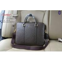China Cartier Ostrich Lines Men Briefcases With Sholder Strap Bags Top Quality Designer Handbags on sale