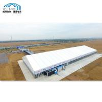 China 1000sqm Giant Outdoor Exhibition Tents Glass Windows Lining Curtain on sale