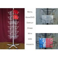 24 Landscape Wire Book Display Stands / Greating Card Wire Book Rack Display Manufactures