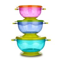 China FDA approved non-slip spill proof snack baby suction bowl for sale