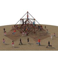 Large Kids Climbing Nets With Rounded Edge Anti Skid Security Manufactures
