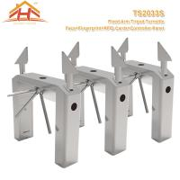 Quality Face And Fingerprint Fixed Arm Bridge Half Height Turnstile Access Control for sale