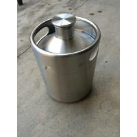 Buy cheap stainless steel 2L mini beer keg growler for bar, restaurant , hotel table use. from wholesalers