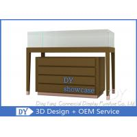 Quality Wood Jewelry Store Pedestal Showcase / Jewelry Counter Fixture for sale