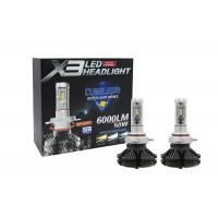 Phi - Zes 360° Angle LED Car Headlights 50W 6000LM Three Colors Aviation Aluminum X3 IP67 Manufactures