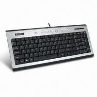 China Slim Multimedia Keyboard with 10 Million Cycles Keystroke on sale