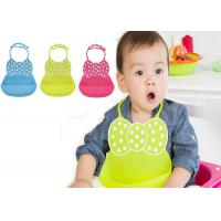 China Anti-Bacteria Washable Silicone Baby Bibs With Butterfly Style , Waterproof for sale