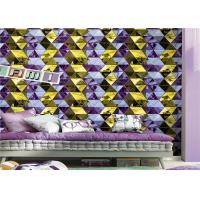 Modern Geometric Wallpaper Washable Diamond Pattern For Lounge Room Manufactures