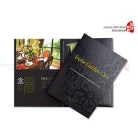 CMYK Printing Cardboard File Folders Gold Hot Stamping With Pocket Manufactures
