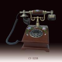 antique wooden telephone with flowers  CY-525b,antique crafts telephone Manufactures