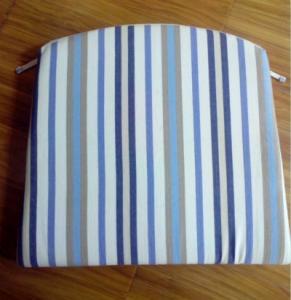 100% cotton yarn dyed stripe reversible cushion seat pad Manufactures
