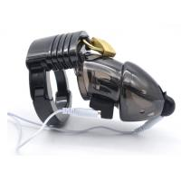 China wholesales high quality electric shock chastity cage male adjustable chastity lock sex toys on sale