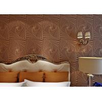 Non - Woven Brown Moistureproof Modern Removable Wallpaper With Dropping Beads Manufactures