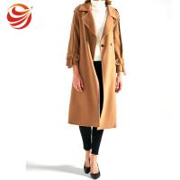 China Slim Fit Women's Casual Winter Coats , Camel Wool Jacket For Ladies on sale