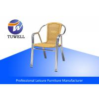Double Anti-UV Tube Aluminium PE Wicker Rattan Chairs For Commercial Manufactures