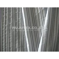 China 129g/sm Spandex Weft Cotton Poly Fabric Cloth with Plain Weave and Dobby Stripe on sale