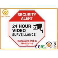 24 Hour Video Surveillance Camera Sign Reflective Aluminum PlateTraffic Sign Board Manufactures