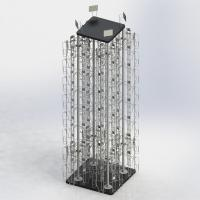 """4 Columns Rotating Metal Book Display Stand With MDF Base W5.5"""" X D1.5"""" X H8"""" Manufactures"""